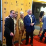 Walking the red carpet with Buzz Aldrin