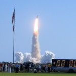 Discovery lifts off for the return to space.
