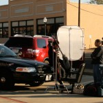 Filming in West Texas